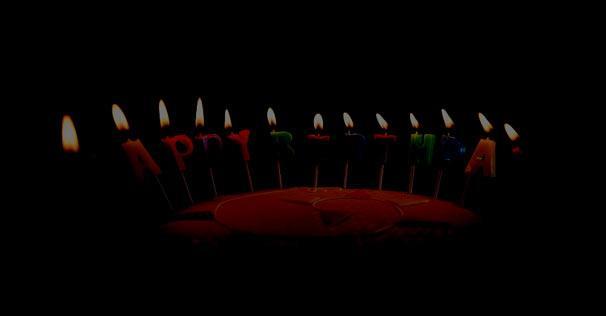 Festlig foedselsdagskage