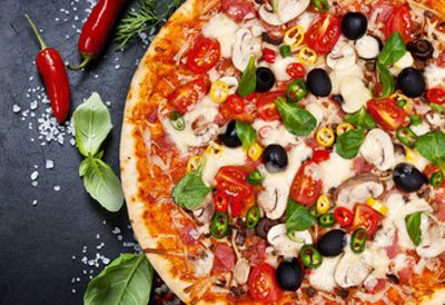 fantastisk opskrift på en pizza