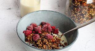 Sund boghvede granola med tranebær