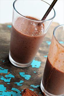 Vegansk chokolade milkshake
